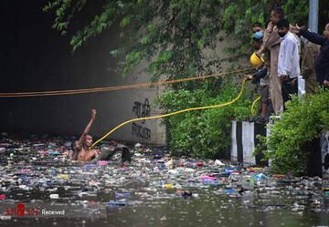 خسارات بارش های سیل آسا در هند زیر سایه کرونا/تصاویر