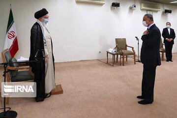 دیدار مقام معظم رهبری با نخستوزیر عراق/تصاویر