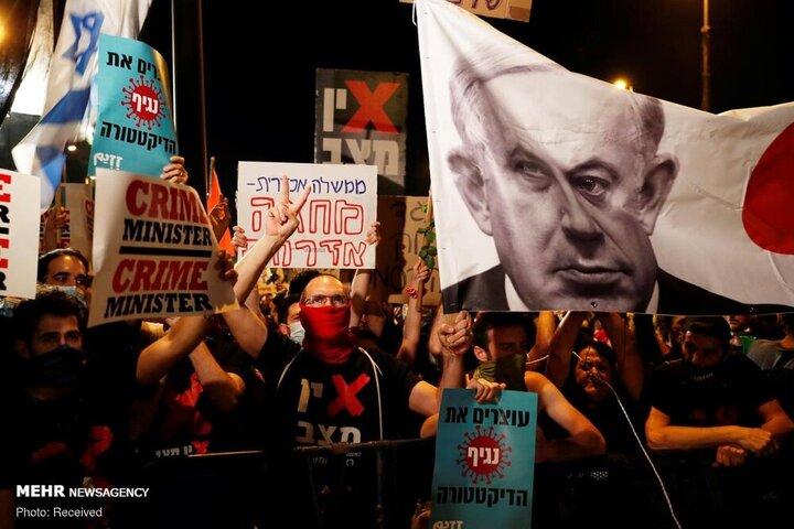 ادامه سرکوب و تظاهرات علیه نتانیاهو در سرزمین های اشغالی/تصاویر