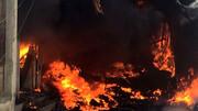 ۲۰ انبار مواد غذایی در نجف آتش گرفت