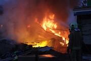 ماجرای انفجار و آتش سوزی شدید در صالح آباد تهران