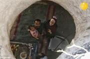 تصاویر باورنکردنی از زندگی مهندس فلسطینی در غار به همراه خانواده