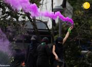 تظاهرات زنان مکزیکی علیه خشونت جنسی در روزهای کرونایی/تصاویر