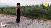 مهارت باورنکردنی دختربچه چینی در پشتک زدن + فیلم