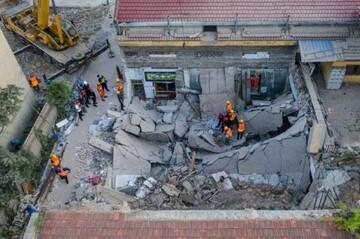 مرگ ۱۷ نفر به دلیل ریزش مرگبار ساختمانی در چین / فیلم