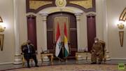 دیدار الکاظمی با رئیس اقلیم کردستان عراق