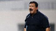 ادای احترام به پیشکسوت فوتبال عراق قبل از بازی استقلال