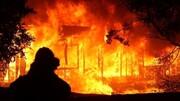 فیلمی از لحظه آتش سوزی در کارخانه میهن اسلامشهر