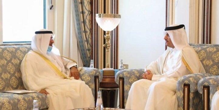 گفتگوی دبیرکل شورای همکاری خلیج فارس با وزیر خارجه قطر