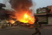 آتشسوزی مهیب جایگاه سوخت در خوزستان + فیلم