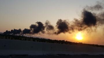 وقوع آتش سوزی گسترده در کارخانه مواد شیمیایی اشتهارد