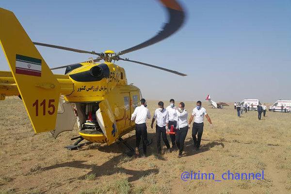 فیلمی از سقوط هواپیما در نظرآباد کرج