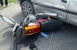 تصادف وحشتناک موتور سیکلت و پراید در نوشهر + فیلم