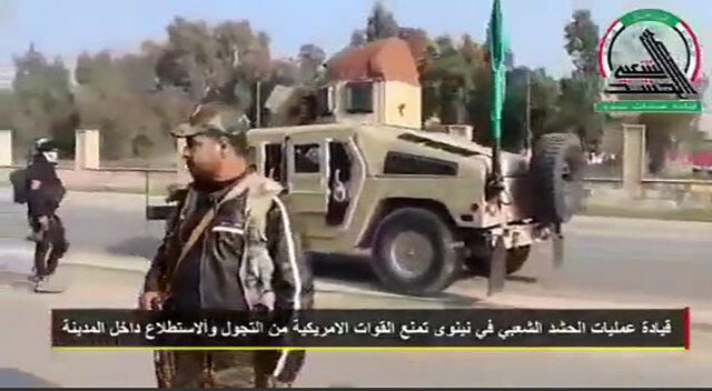 حشد الشعبی جلوی گشتزنی نظامیان آمریکایی را گرفت +فیلم