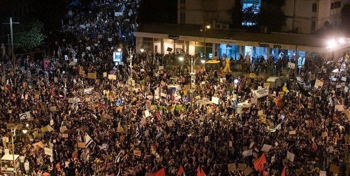 تل آویو محل تجمع معترضان به  نتانیاهو