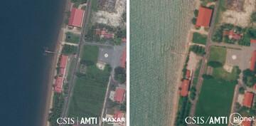 انهدام ساختمان ساخت آمریکا در پایگاه دریایی کامبوج