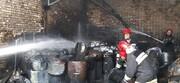وقوع آتشسوزی در شهرک صنعتی چهاردانگه اسلامشهر