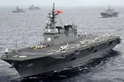 سه رزمناو ژاپنی در دریای چین