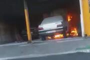 آتش گرفتن پژو هنگام تعویض روغن + فیلم