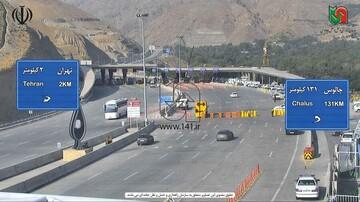 تصاویری از عوارضی تهران - چالوس با شروع مقررات منع عبور و مرور