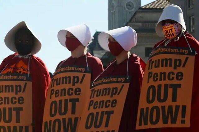 اعتراض زنان علیه ترامپ در واشنگتن