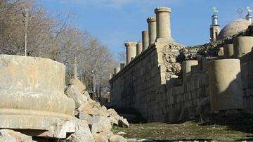 نمایش اشیای باستانی معبد آناهیتا در خارج از کشور