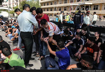 دستگیری ۳۰ نفر از اراذل و اوباش در اسلامشهر