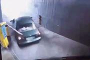 لجبازی عجیب و خنده دار یک راننده  + فیلم