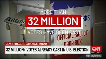 ۳۲ میلیون آمریکایی رأی دادند