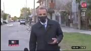 سرقت عجیب موبایل گزارشگر تلویزیون در برنامه زنده + فیلم