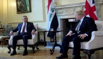 نخست وزیر عراق با بوریس جانسون دیدار کرد