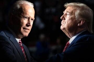 تعجب بامزه جو بایدن از صحبت های ترامپ + فیلم