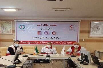 اعزام فوری یک تیم از هلال احمر همدان به منطقه زلزله زده