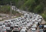 ترافیک سنگین در آزادراه تهران_کرج_قزوین / محور فیروزکوه مسدود شد