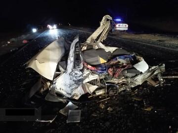 تصادف پراید با سانتافه در محور نهبندان - بیرجند/ راننده پراید در دم جان باخت