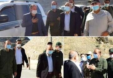 بازدید فرمانده کل سپاه از مناطق مرزی درگیریهای جنگ قرهباغ