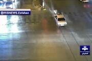 تصادف مرگبار پراید و موتور سیکلت در اصفهان + فیلم
