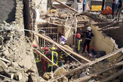 ریزش ساختمان ۲ طبقه در مشهد