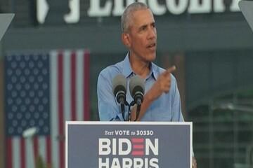 حضور اوباما در کارزار انتخاباتی بایدن