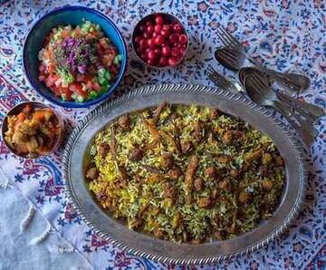 نحوه درست کردن کلم پلو شیرازی با گوشت و مرغ + آموزش
