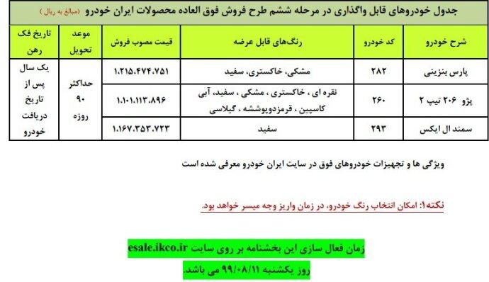 جزئیات فروشفوقالعاده ایران خودرو در آبان ماه