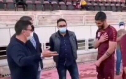لحظه درگیری لفظی بین قلعه نویی و سعید آقایی +فیلم