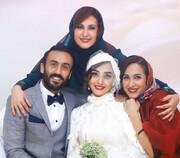 پسر و عروس خانم بازیگر در لباس پرسپولیس و استقلال + عکس