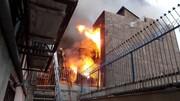 یک انبار نخ در تهران آتش گرفت