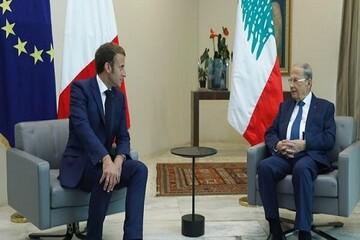مذاکرات «عون» و «ماکرون» درباره تشکیل دولت جدید لبنان