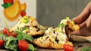 پیراشکی پیتزایی گوشت خوشمزه و لذیذ + طرز تهیه