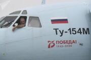 صحنه وحشتناک سقوط هواپیما در مسکو / فیلم