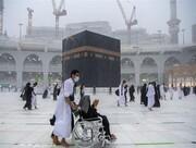 بارش رحمت الهی در خانه خدا / تصاویر