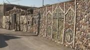خانه عجیب فسیلی در ایران که در نمای آن ۲ میلیون فسیل به کار رفته / فیلم