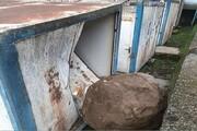 ریزش کوه در لوندویل آستارا یک مدرسه را تخریب کرد